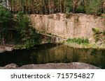 landscape of an old flooded...   Shutterstock . vector #715754827