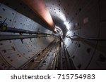 subway tunnel  | Shutterstock . vector #715754983