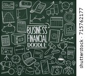 business and financial doodle... | Shutterstock .eps vector #715762177
