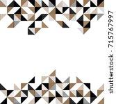 a modern triangle geometric... | Shutterstock .eps vector #715767997