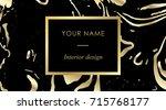 elegant black luxury business... | Shutterstock .eps vector #715768177