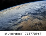 View Of Earth From Space With...