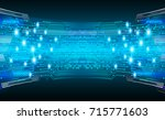 binary circuit future... | Shutterstock .eps vector #715771603