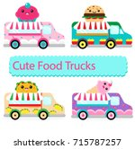 fun pack of colorful food... | Shutterstock .eps vector #715787257
