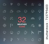 weather forecast. thin line web ... | Shutterstock .eps vector #715795603