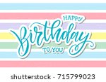 vector illustration.happy... | Shutterstock .eps vector #715799023