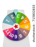 spinning colorful fortune wheel ... | Shutterstock . vector #715802833