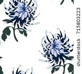 floral seamless pattern with... | Shutterstock .eps vector #715803223