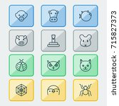 zoology icons set. collection... | Shutterstock .eps vector #715827373