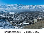 top view of leh town covered... | Shutterstock . vector #715839157