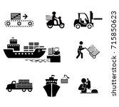 service industry including... | Shutterstock .eps vector #715850623