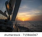 ocean sunset | Shutterstock . vector #715866067