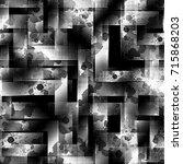 seamless pattern monochrome... | Shutterstock . vector #715868203