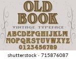 script handcrafted vector... | Shutterstock .eps vector #715876087