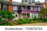 house in the historic fourth... | Shutterstock . vector #715876723