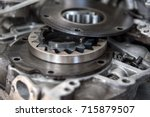 disassembled mechanical high... | Shutterstock . vector #715879507