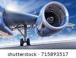 fire engine of an aircraft | Shutterstock . vector #715893517