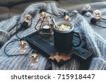 still life details of living... | Shutterstock . vector #715918447