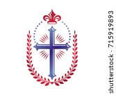 cross of christianity graphic... | Shutterstock .eps vector #715919893