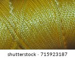 nylon chord   yellow | Shutterstock . vector #715923187
