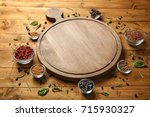 composition with cutting board  ... | Shutterstock . vector #715930327