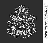 keep moving forward. hand... | Shutterstock .eps vector #715937947