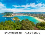 panoramic aerial view of san... | Shutterstock . vector #715941577
