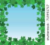 leaf border frame   summer is... | Shutterstock . vector #715951717