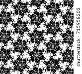 black and white ornament. w | Shutterstock . vector #715958203