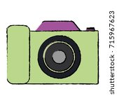 camera photographic isolated... | Shutterstock .eps vector #715967623