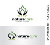 nature care logo template... | Shutterstock .eps vector #715972633