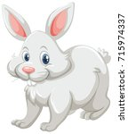 cute rabbit with white fur... | Shutterstock .eps vector #715974337