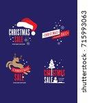 christmas sale | Shutterstock .eps vector #715993063