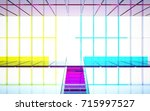 abstract white and colored...   Shutterstock . vector #715997527