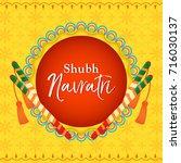 shubh navratri happy navratri ... | Shutterstock .eps vector #716030137