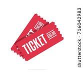 vector illustration of tickets. ... | Shutterstock .eps vector #716042983