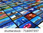 creative abstract digital... | Shutterstock . vector #716047357