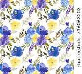 royal blue violet yellow...   Shutterstock . vector #716063203