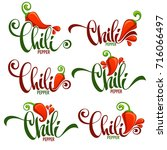 hot chili pepper logo  icons... | Shutterstock .eps vector #716066497