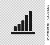 column graph vector icon eps 10. | Shutterstock .eps vector #716085337
