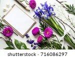 creative layout of accessories  ...   Shutterstock . vector #716086297