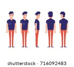 young guy  urban citizen... | Shutterstock .eps vector #716092483