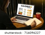 Small photo of CALORIE counting counter application Medical eating healthy Diet concept