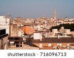 palma de mallorca view over the ... | Shutterstock . vector #716096713