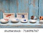 simple rustic kitchenware... | Shutterstock . vector #716096767