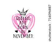 vector illustration  queens are ... | Shutterstock .eps vector #716096887