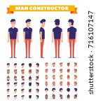 man character constructor with... | Shutterstock .eps vector #716107147