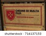 rome  italy   september 1  2017 ... | Shutterstock . vector #716137153