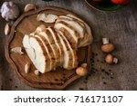 delicious sliced turkey breast...   Shutterstock . vector #716171107