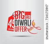 diwali sale offer. big sale. 45 ... | Shutterstock .eps vector #716172847